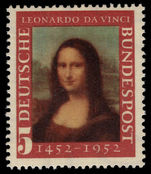 West Germany 1952 Leonardo da Vinci unmounted mint