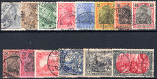 Germany 1899-1900 Reichspost set fine used.