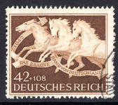 Third Reich 1942 Horse Racing Brown Ribbon fine used.