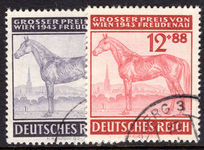 Third Reich 1943 Horse Racing Grand Prix fine used.