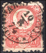 Hungary 1871-73 5k rose-red engraved fine used. (repaired).