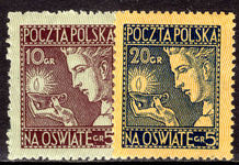 Poland 1927 Educational Funds unmounted mint.