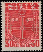 Poland 1933 Proclamation of the Republic lightly mounted mint.