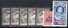 Poland 1935 Mourning for Marshal Pilsudski lightly mounted mint.