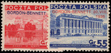 Poland 1936 Gordon Bennett Balloon Air Race unmounted mint.