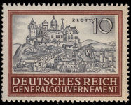 Poland 1943 10z Cracow unmounted mint.