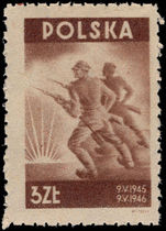 Poland 1946 Peace 1st Anniversary unmounted mint.