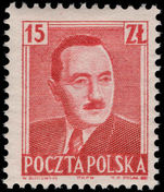Poland 1950 Pres. Bierut lightly mounted mint.