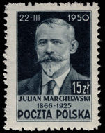 Poland 1950 Julian Marchlewski perf 11½ lightly mounted mint.