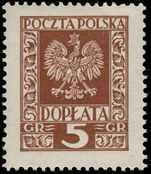 Poland 1930 Postage Due lightly mounted mint.
