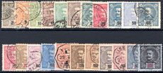 Portugal 1895 set fine used (115r perfined 180r fine mint lightly hinged).
