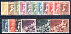 Spain 1930 Goya postage set lightly mounted mint.