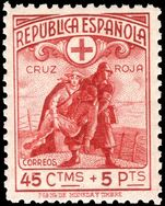 Spain 1938 Red Cross postage lightly mounted mint.