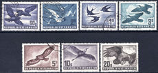 Austria 1950-53 Birds air set fine used.