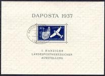 Danzig 1937 Philatelic Exhibition air souvenir sheet CTO very fine used.