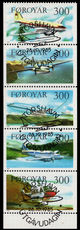 Faroe Islands 1985 Aircraft booklet pane fine used.
