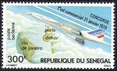 Senegal 1976 Concorde first commercial flight unmounted mint.