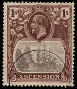Ascension 1924-33 1/- fine used.