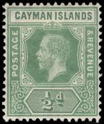 Cayman Islands 1912-20  d green fine lightly hinged mint.