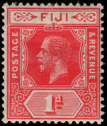 Fiji 1912-23 1d bright scarlet crown CA unmounted mint.