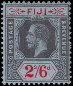 Fiji 1912-23 2s6d black on red on blue Crown CA unmounted mint.
