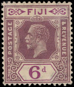 Fiji 1922-27 6d dull and bright purple Script CA lightly mounted mint.