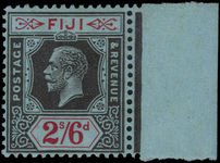 Fiji 1922-27 2s6d black on red on blue Script CA marginal unmounted mint.