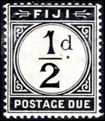 Fiji 1918 ½d postage due lightly mounted mint.