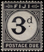 Fiji 1918 3d postage due lightly mounted mint.