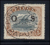 Papua 1931-32 5d official fine used.