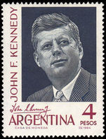Argentina 1964 J F Kennedy unmounted mint.
