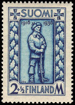 Finland 1938 Disabled Soldiers' Relief Fund. 20th Anniv of Independence.