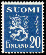 Finland 1947-52 20m Rampant Lion unmounted mint.