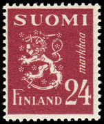 Finland 1947-52 24m Rampant Lion unmounted mint.