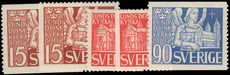 Sweden 1946 Lund Cathedral coil and booklet set unmounted mint.