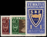 Turkey 1959 Centenary of Turkish Political Science Faculty unmounted mint.