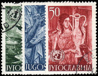 Yugoslavia 1953 United Nations Commemoration.