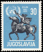 Yugoslavia 1955 10th Anniv of United Nations unmounted mint.