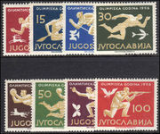 Yugoslavia 1956 Olympic Games lightly hinged.