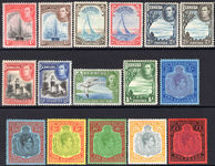 Bermuda 1938-53 set (one or two low values with faults). top values fine mounted mint.