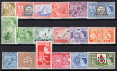 Bermuda 1953-62 set lightly mounted mint.