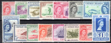 Cayman Islands 1953-62 set lightly mounted mint.