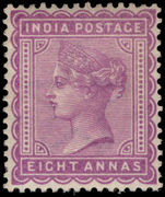 India 1882-90 8a dull mauve lightly mounted mint.