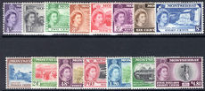 Montserrat 1953-62 basic set lightly mounted mint.
