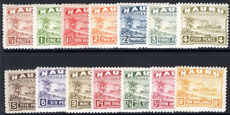 Nauru 1924-48 shiny paper set lightly mounted mint.