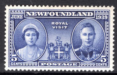 Newfoundland 1939 Royal Visit lightly mounted mint.
