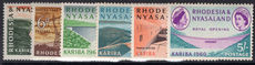 Rhodesia & Nyasaland 1960 Kariba Hydro-Electric Dam lightly mounted mint.