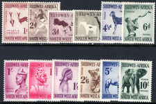 South West Africa 1954 set lightly mounted mint.