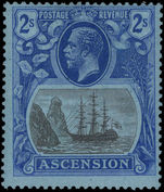 Ascension 1924-33 2s grey-black and blue on blue lightly mounted mint.
