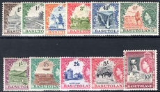 Basutoland 1954-58 set lightly mounted mint.